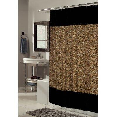 Sable Faux Fur-Trimmed Shower Curtain