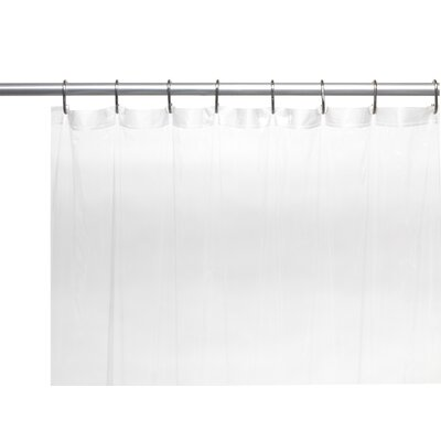 Vinyl 5 Gauge Shower Curtain Liner with Metal Grommets Color: Super Clear