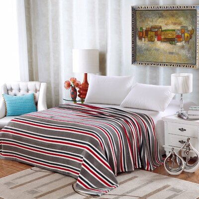 Ultra Comfort Contemporary Style Micro-Fleece Blanket Size: Twin, Color: Gray