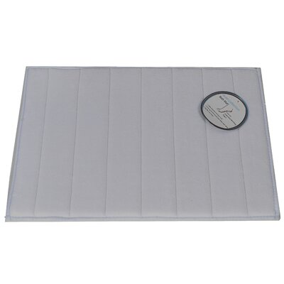 Memory Foam Bath Mat Size: Medium, Color: Pewter