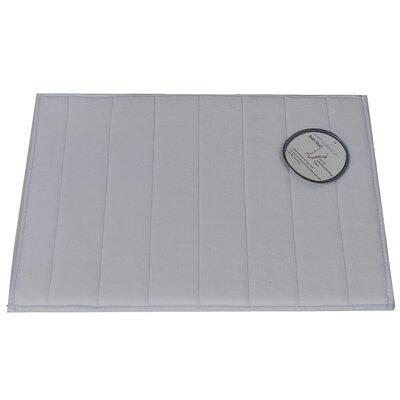Memory Foam Bath Mat Color: Pewter, Size: Large