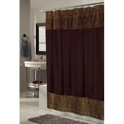 Sheena Faux Fur-Trimmed Shower Curtain