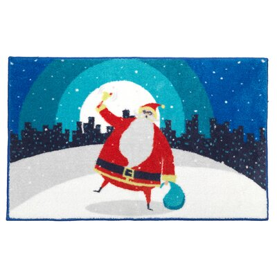 Santa in the City Bathroom Rug