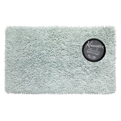 Shaggy Cotton Chenille Bath Rug Color: Spa Blue