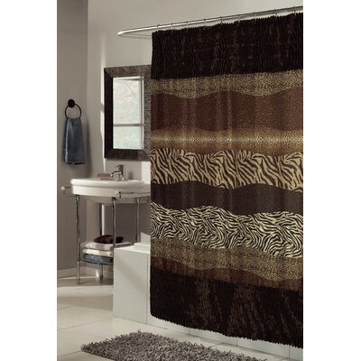 Felina Faux Fur-Trimmed Shower Curtain