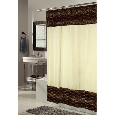 Zuri Faux Fur-Trimmed Shower Curtain