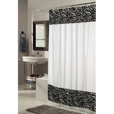 Serengeti Faux Fur-Trimmed Shower Curtain
