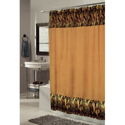 Panthera Faux Fur-Trimmed Shower Curtain