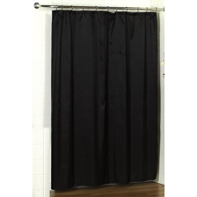Parish Dobby Shower Curtain Color: Black