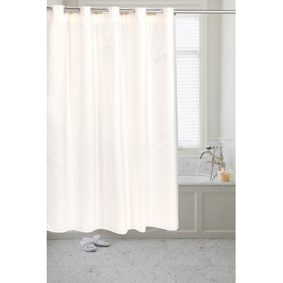 Pre Hooked� Moire Shower Curtain Color: Ivory