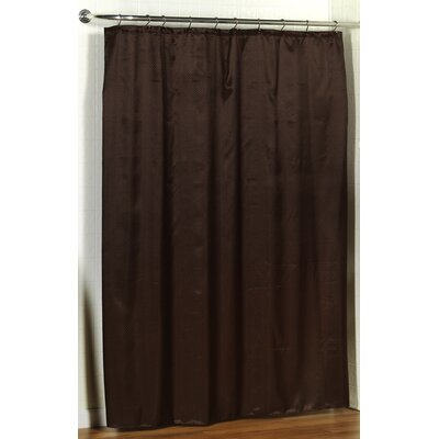 Lauren Dobby Shower Curtain Color: Brown