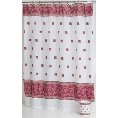 Billings Shower Curtain Color: Burgundy