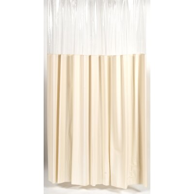 Vinyl Window Shower Curtain Color: Ivory