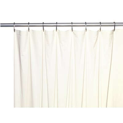 Vinyl 5 Gauge Shower Curtain Liner with Metal Grommets Color: Bone