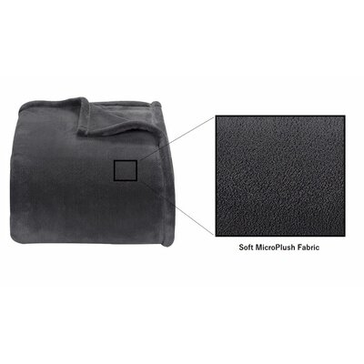 Microplush Blanket Size: Twin, Color: Gray