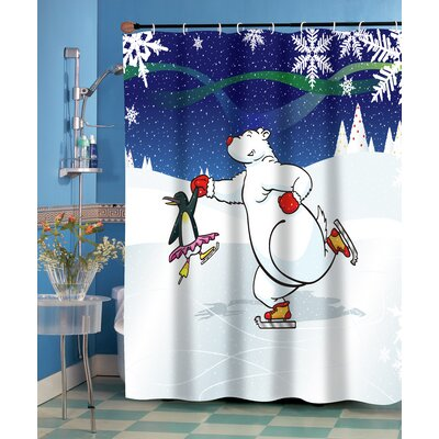 Ice Dancers Shower Curtain