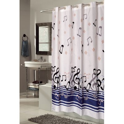 EZ-ON Blue Note Shower Curtain