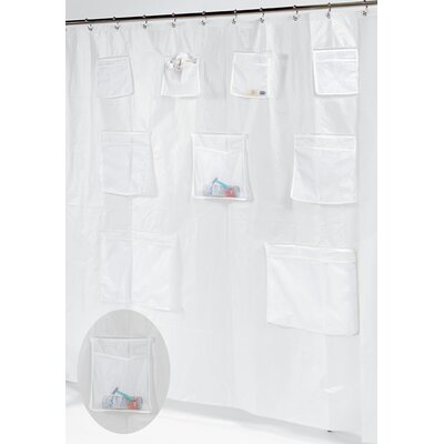 Pockets PEVA Shower Curtain Color: Super Clear