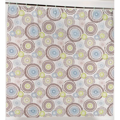 Jasmine PEVA Shower Curtain with Built in Hooks