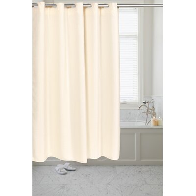 Pre Hooked� Waffle Weave Shower Curtain Color: Ivory