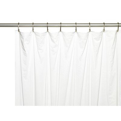 Vinyl 5 Gauge Shower Curtain Liner with Metal Grommets Color: White