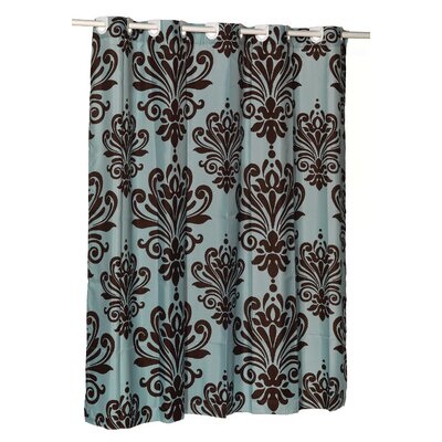 EZ-ON� Beacon Hill Shower Curtain Color: Chocolate on Spa Blue