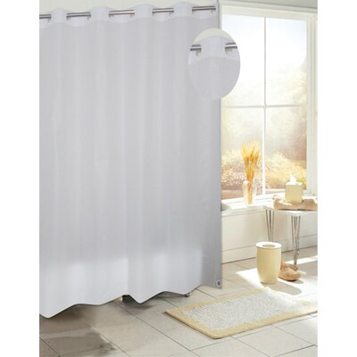 EZ-ON PEVA Shower Curtain Color: Frosty Clear