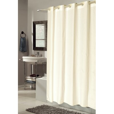 EZ-ON� Checks Shower Curtain Color: Ivory