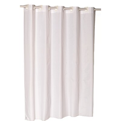 EZ-ON� Checks Shower Curtain Color: White