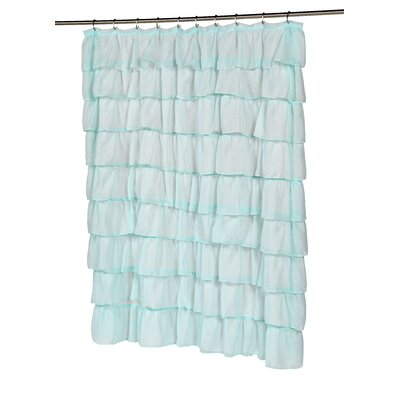 Carmen Shower Curtain Color: Spa Blue