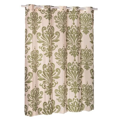 EZ-ON� Beacon Hill Shower Curtain Color: Sage on Ivory