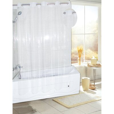 EZ-ON� PEVA Shower Curtain Color: Super Clear