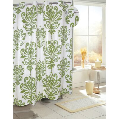 EZ-ON� PEVA Beacon Hill Shower Curtain Color: Sage on Ivory