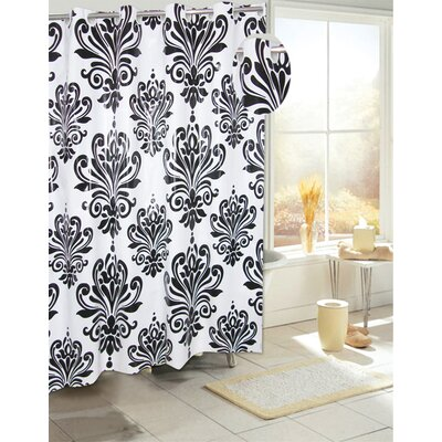 EZ-ON� PEVA Beacon Hill Shower Curtain Color: Black on White