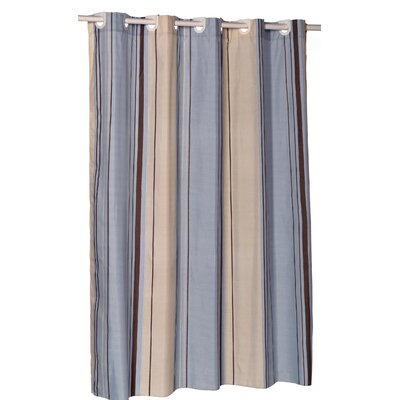 Allenwood Stripes Shower Curtain Color: Blue