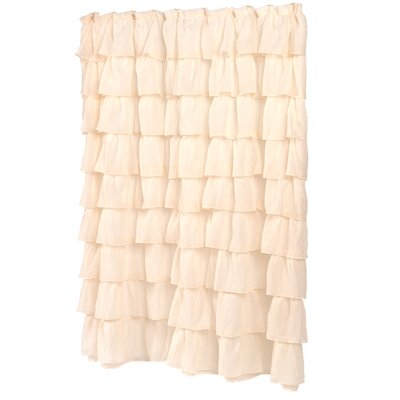 Carmen Shower Curtain Color: Ivory
