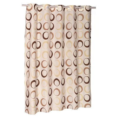 EZ-ON� Circles Shower Curtain Color: Ivory/Brown