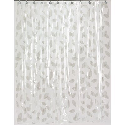 Autumn Leaves Vinyl Shower Curtain Color: Silver