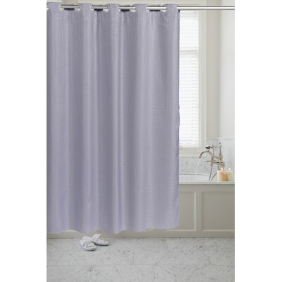 Pre Hooked� Waffle Weave Shower Curtain Color: Pewter