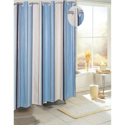 EZ-ON� PEVA Stripes Shower Curtain