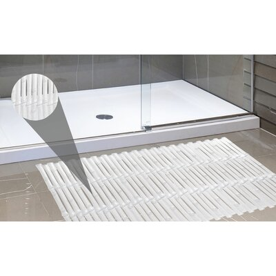Bamboo Look Vinyl Bath Rug Color: Super Clear