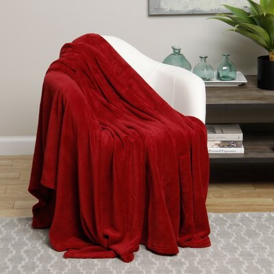 Microplush Blanket Size: Twin, Color: Red