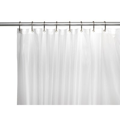 PEVA 6 Gauge Shower Curtain Liner Color: Frosty Clear