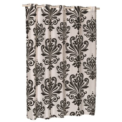 EZ-ON� Beacon Hill Shower Curtain Color: Black on White