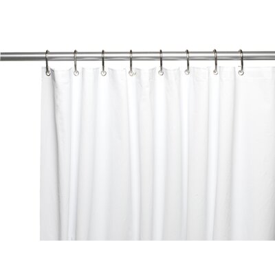 PEVA 6 Gauge Shower Curtain Liner Color: White