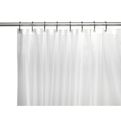 Clean Home PEVA Shower Curtain Liner Color: Frosty Clear