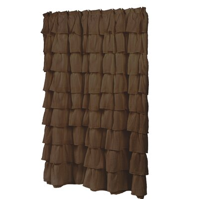 Carmen Shower Curtain Color: Brown