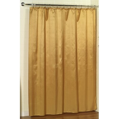 Parish Dobby Shower Curtain Color: Gold