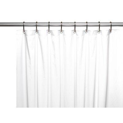 Vinyl 8 Gauge Shower Curtain Liner Color: White