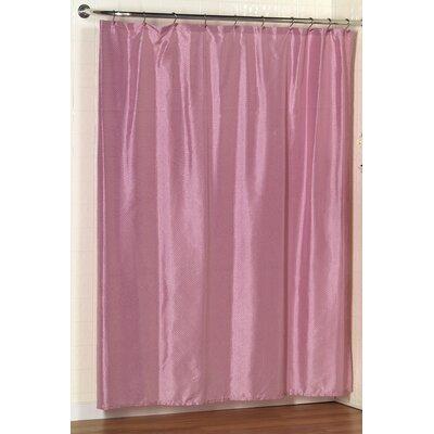 Parish Dobby Shower Curtain Color: Rose